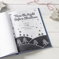 Twas the Night Before Christmas Personalised Story Book - a traditional and ideal gift to read to a young girl or boy during the festive season